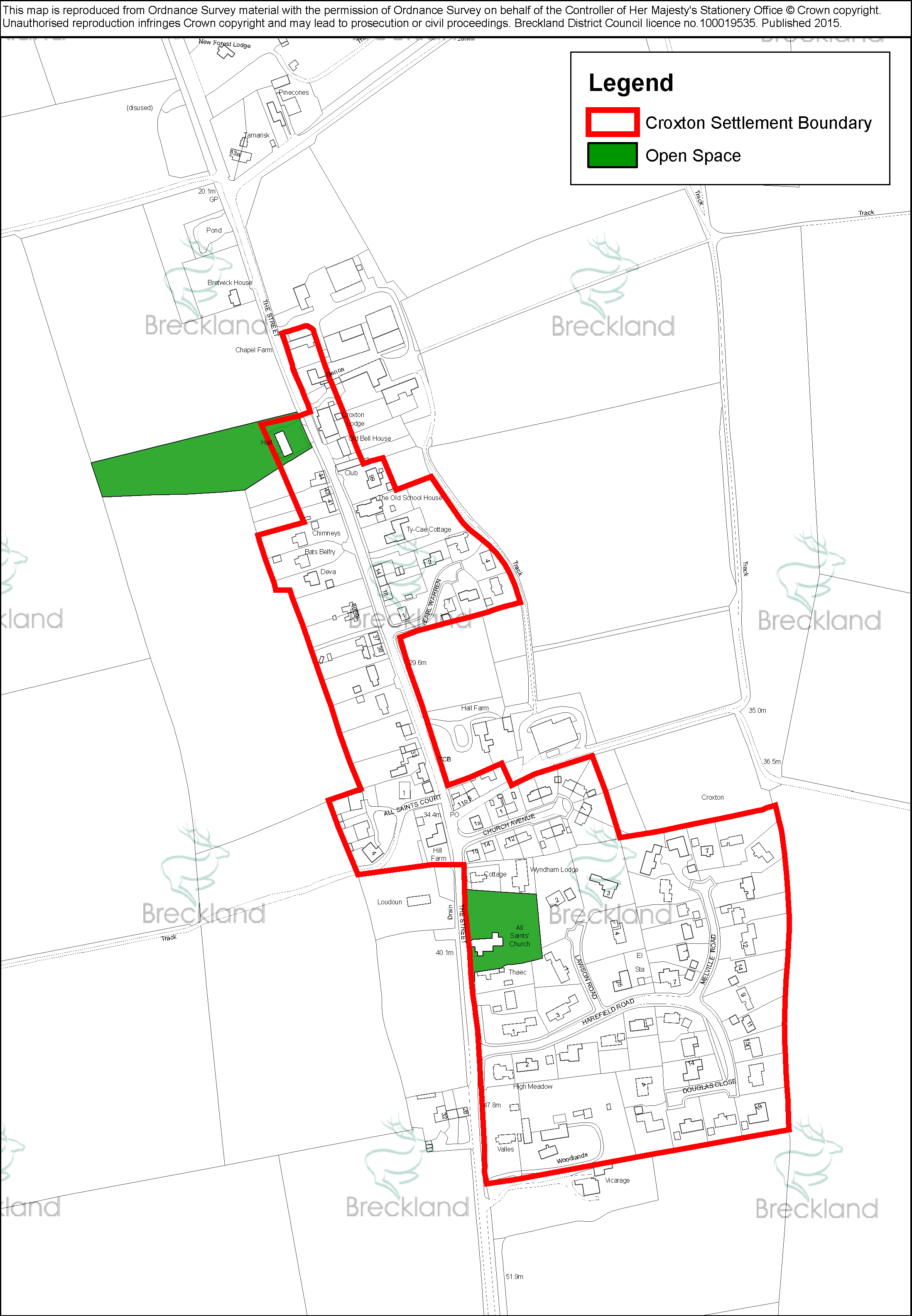 Maps and diagrams croxton parish council maps and diagrams croxton settlement boundary pooptronica Image collections